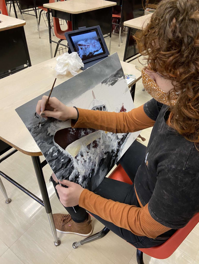 Back to Art Classes: What the JHS Painters are Keeping  Busy With
