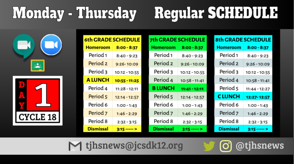 Today's Schedule!